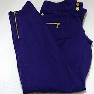 Michael Kors Purple Jeans Sz 2